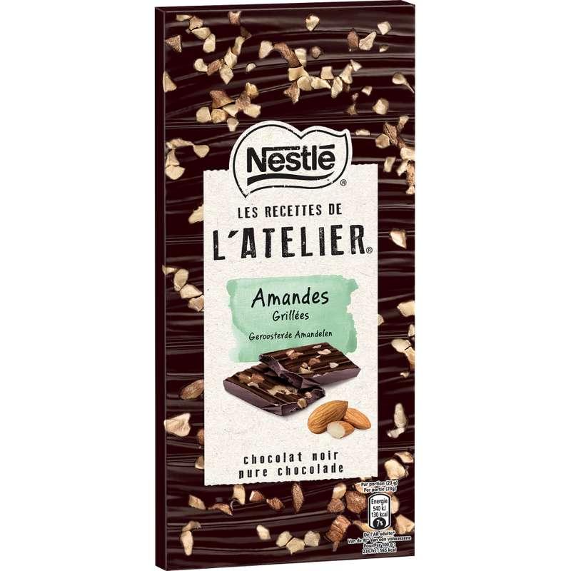 Chocolat noir l'Atelier aux amandes grillées, Nestlé (115 g)