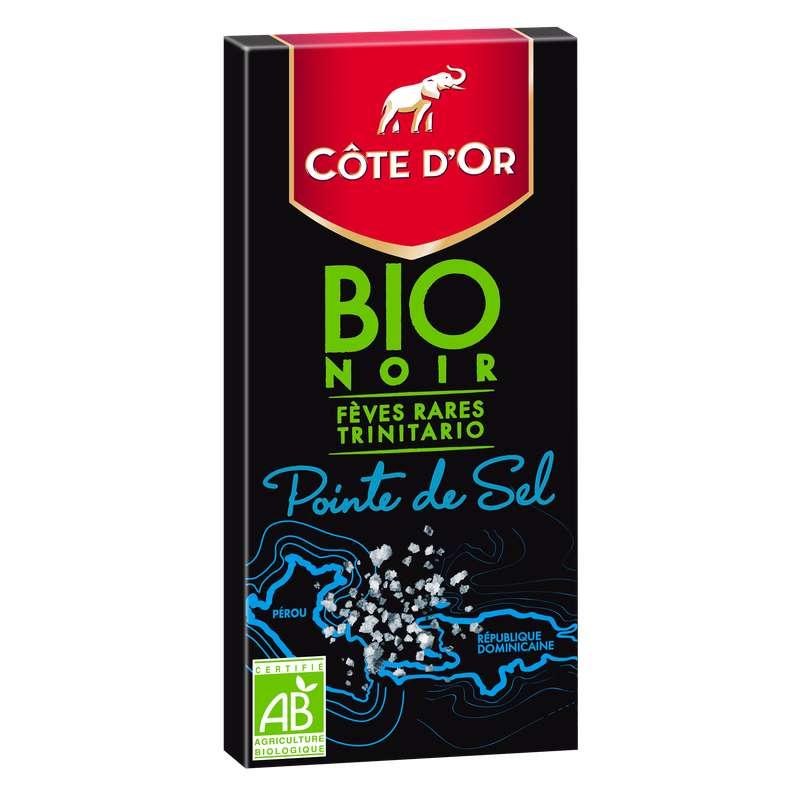 Chocolat noir pointe de sel BIO, Côte d'Or (90 g)