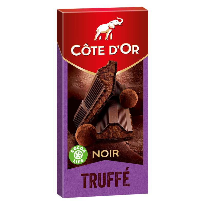 Chocolat noir truffé, Côte d'Or (190 g)