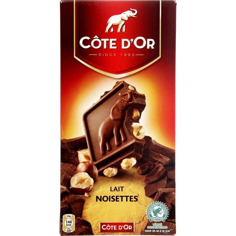 Chocolat au lait noisette, Côte d'Or (180 g)