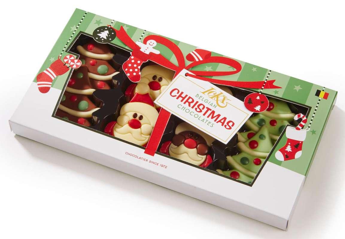 Chocolats belges Sapin et Père Noël, Ickx (x 8, 95 g)