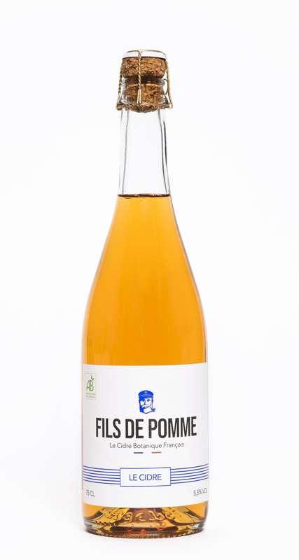 Cidre Brut Le Sauvage BIO, Fils de Pomme (75 cl)