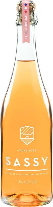 Cidre Rosé La Sulfureuse 3°, Sassy (75 cl)