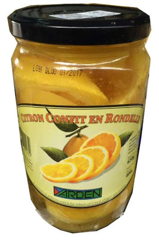 Citrons confits beldi en rondelle, Yarden (650 g)