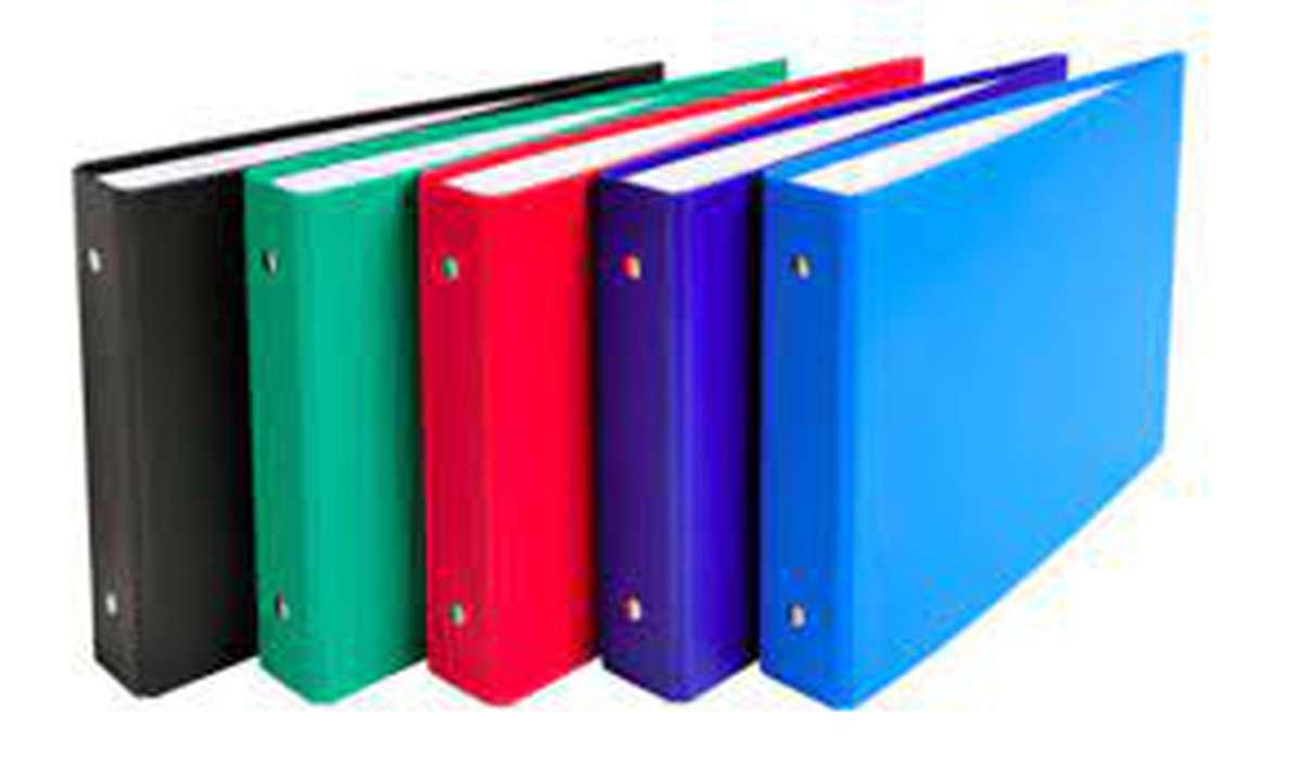 Classeur rigide à fiches Bristol 2 anneaux colori bleu, Exacompta (1 classeur, 14,8 x 21 cm, dos 35 mm)