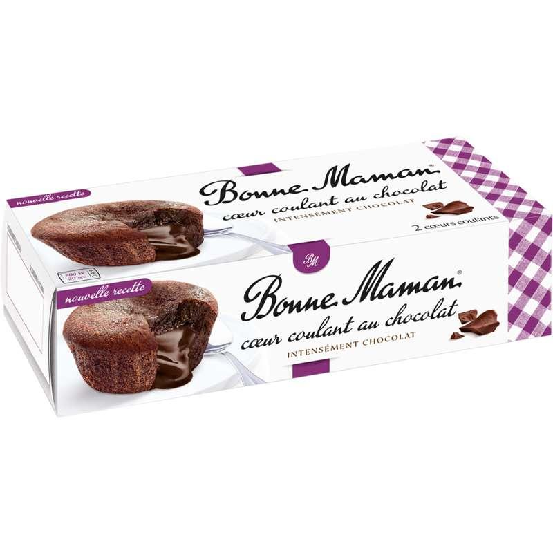 Coeur coulant au chocolat, Bonne Maman (2 x 80 g)