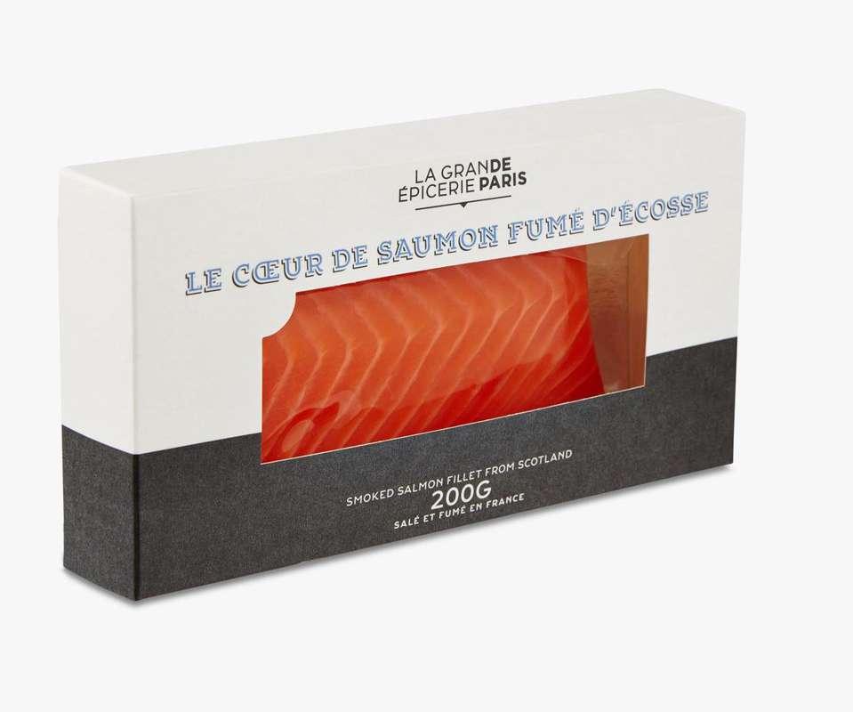 Coeur de saumon fumé d'Écosse, La Grande Epicerie de Paris (200 g)