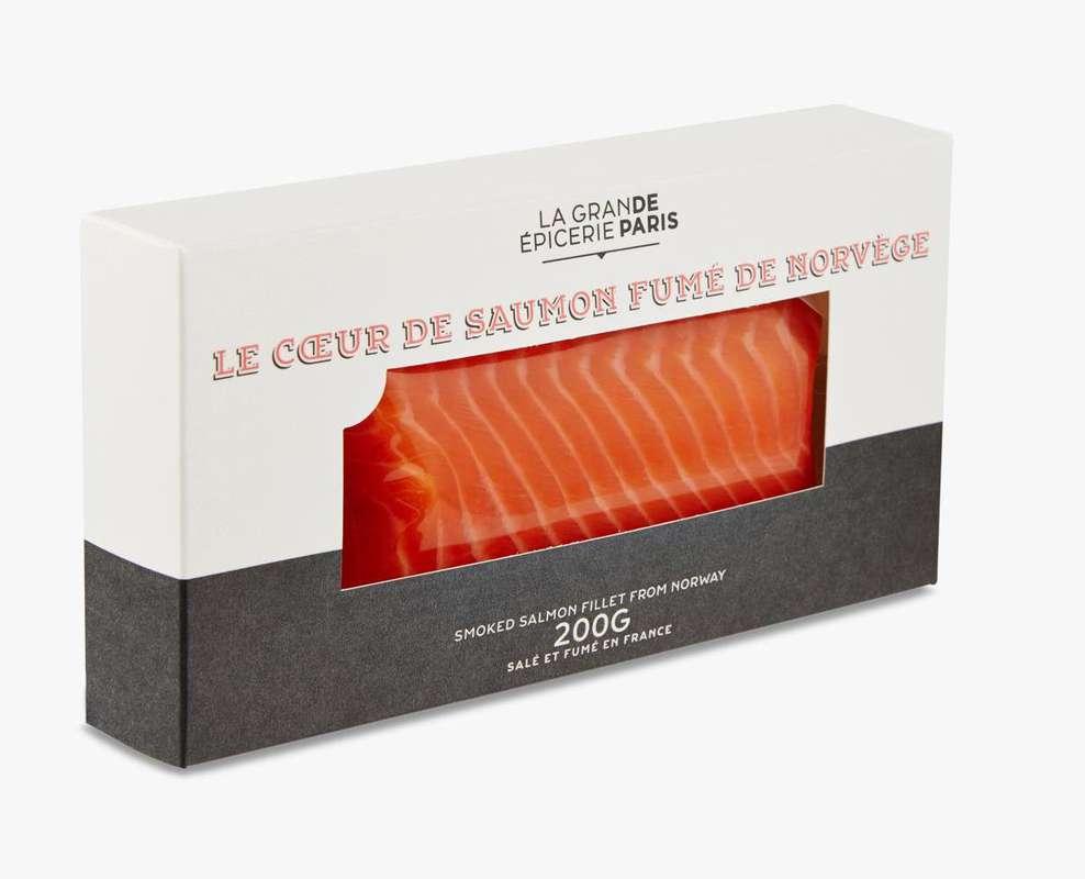 Coeur de saumon fumé de Norvège, La Grande Epicerie de Paris (200 g)