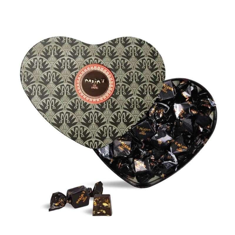 Coeur Noir - Chocolat noir, nougat, amandes et miel, Maxim's (90 g)