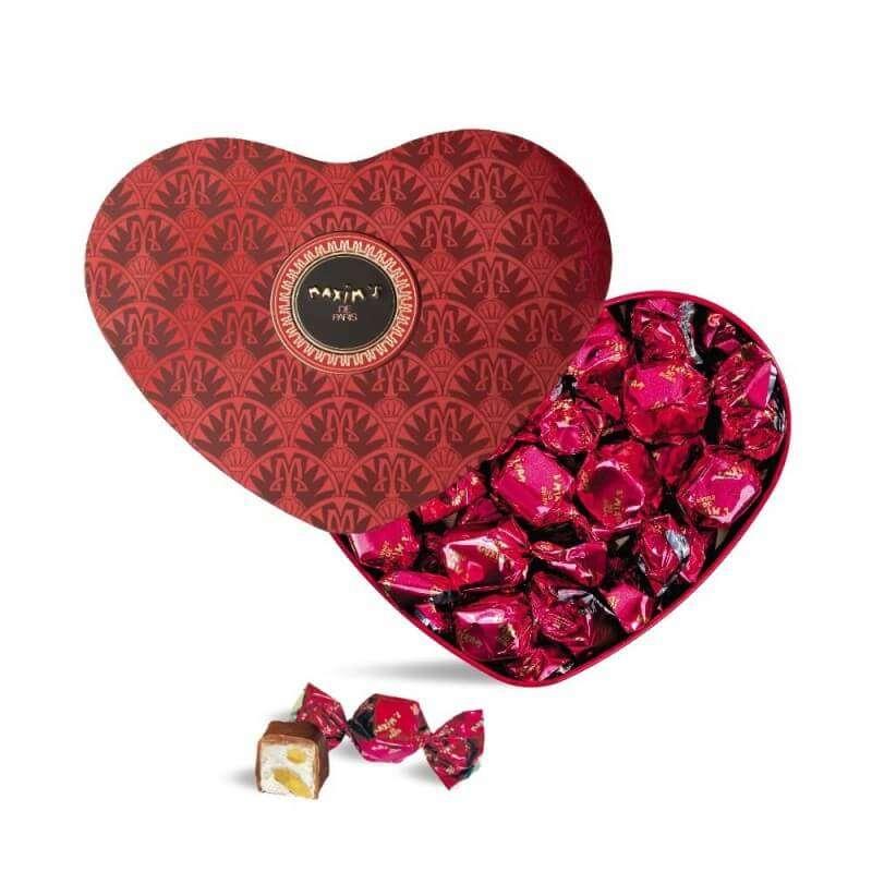 Coeur Rouge - Chocolat au lait et nougat, Maxim's (90 g)