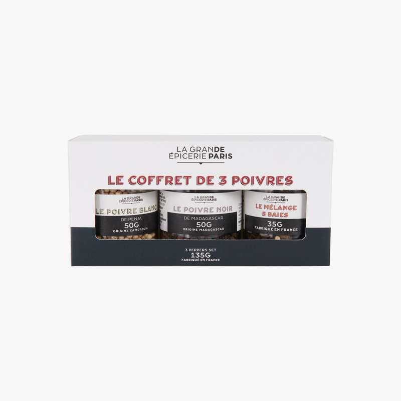 Coffret 3 poivres, La Grande Epicerie de Paris (x 3, 135 g)
