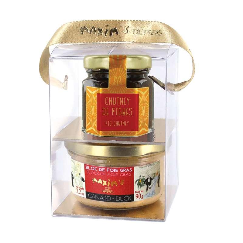 Coffret Bloc de foie gras et Chutney, Maxim's (140 g)