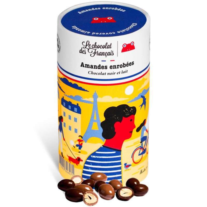 Amandes enrobées de chocolat noir et lait, Le Chocolat des Français (125 g)