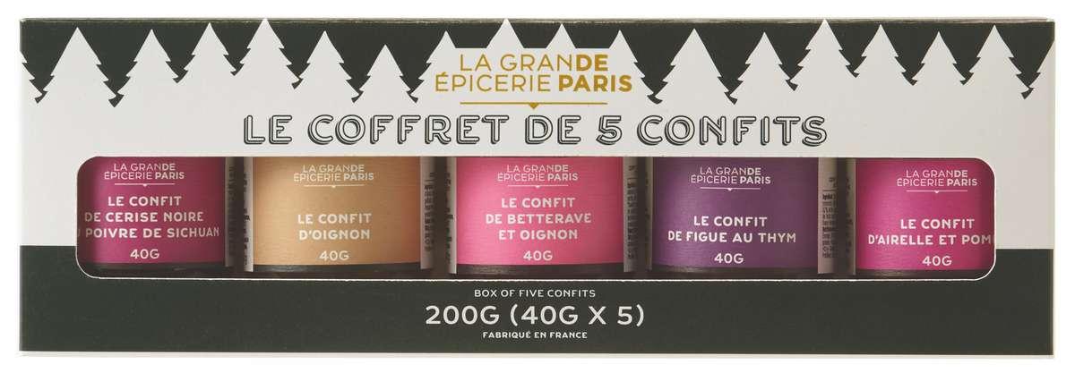 Coffret de 5 confits de Noël, La Grande Épicerie de Paris (200 g)