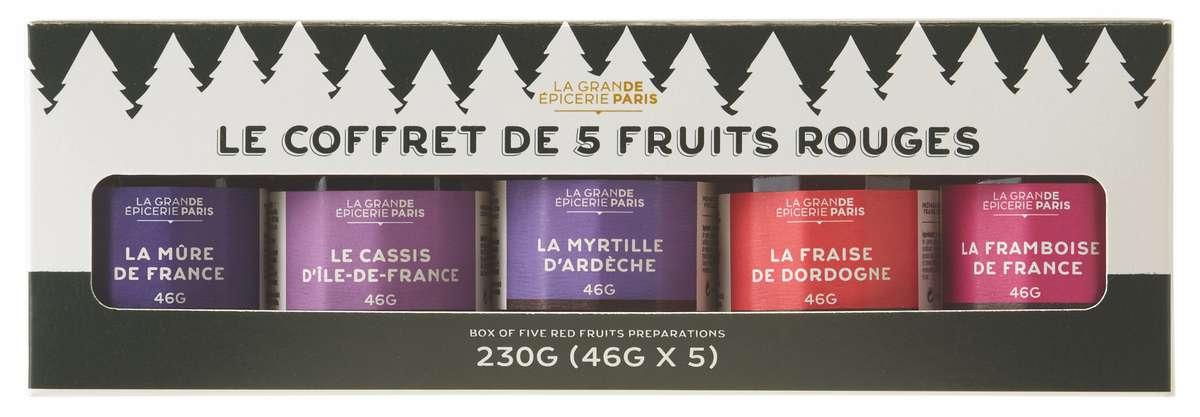 Coffret de 5 confitures de Noël aux fruits rouge, La Grande Épicerie de Paris (230 g)