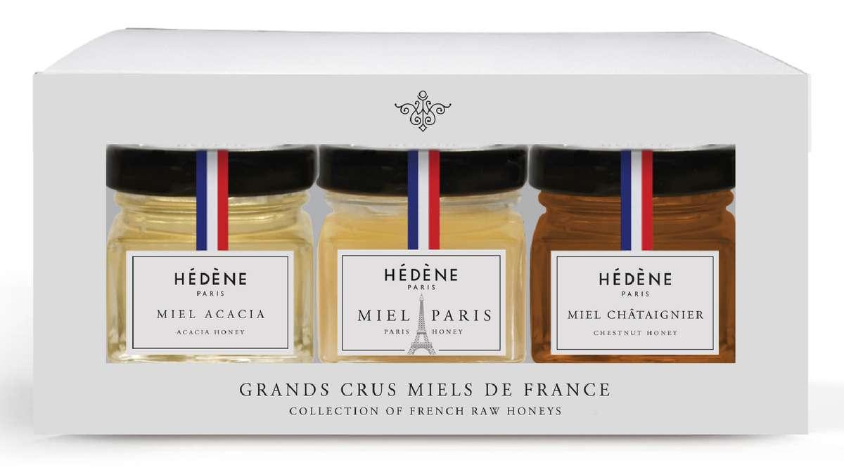 Coffret de miels Grands Crus édition Paris, Hèdène (x 3, 120 g)