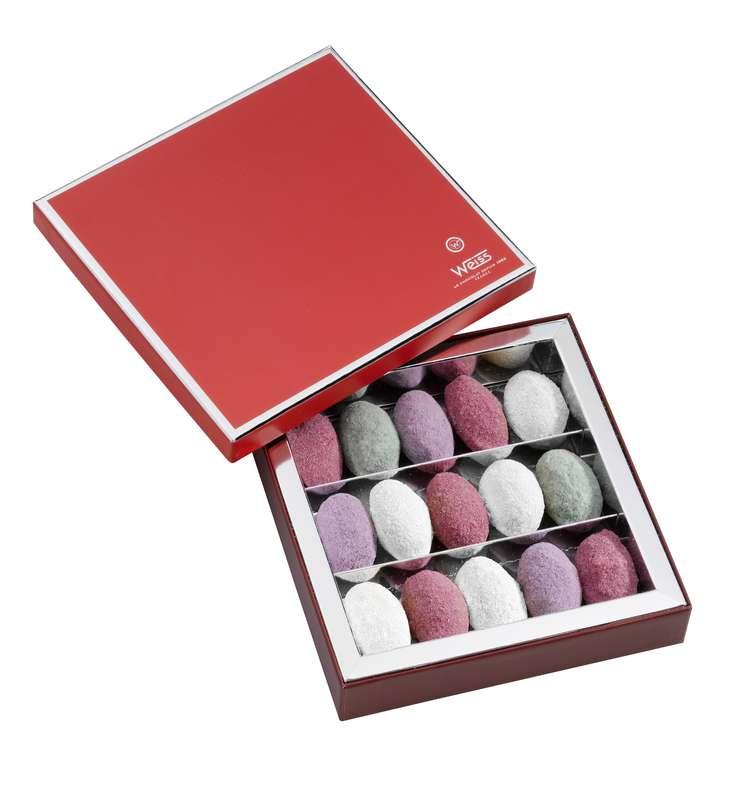 Coffret de Nougamandines Chef d'Oeuvre, Weiss (x 15 bonbons, 200 g)