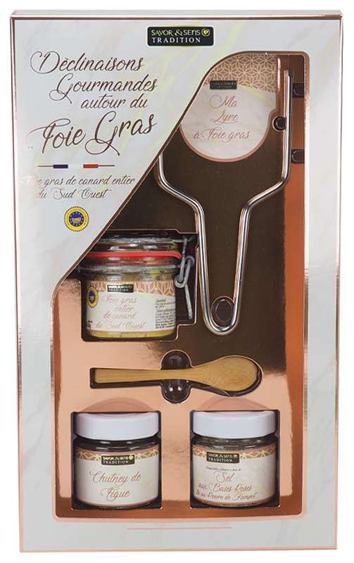 Coffret - Déclinaison gourmande autour du foie gras, Savor & Sens (290 g)