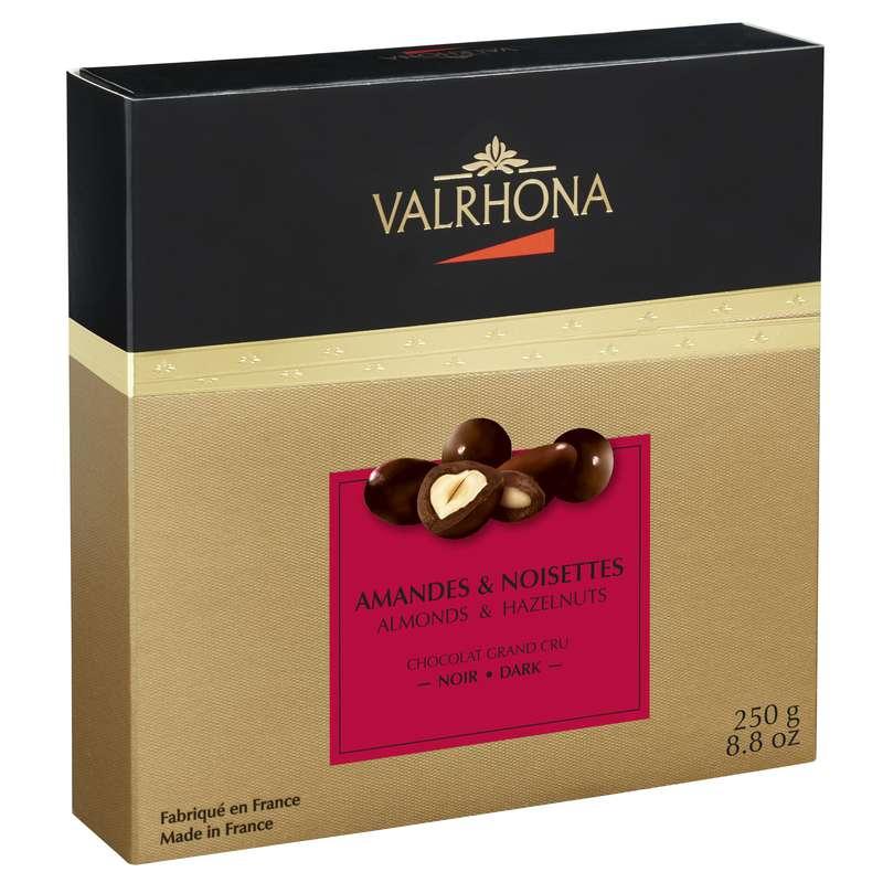 Coffret Equinoxe Amandes & Noisettes au chocolat Noir, Valrhona (250 g)