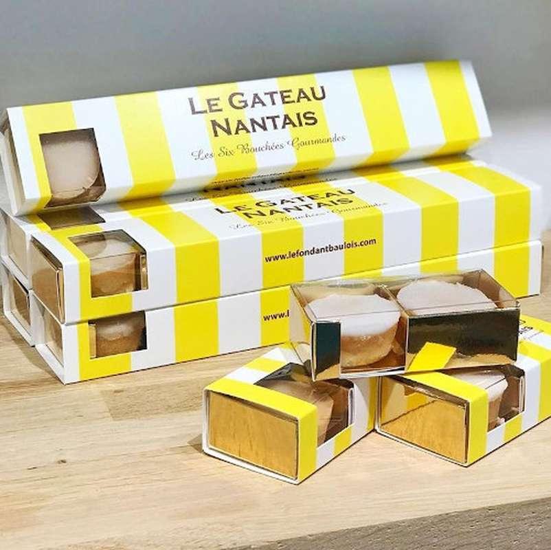 Coffret fourreau bouchées gâteau Nantais , Le Fondant Baulois (6 pièces, 120 g)