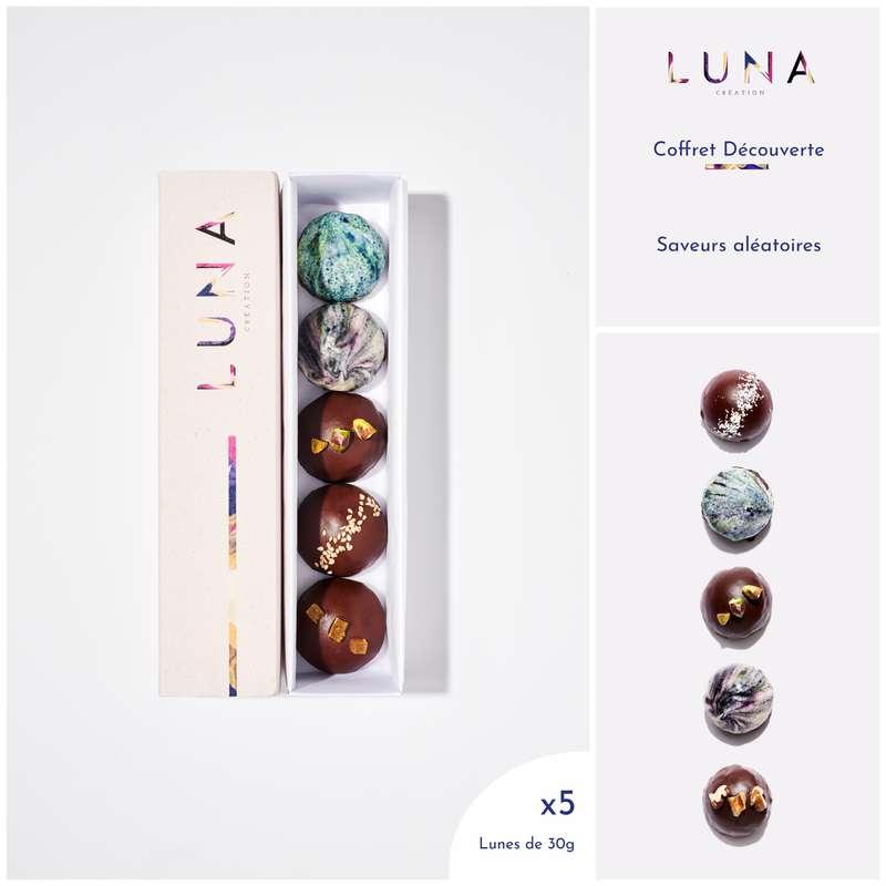 Coffret Lunes découverte Sans Gluten et Vegan, Luna Création (x 5, 150 g)