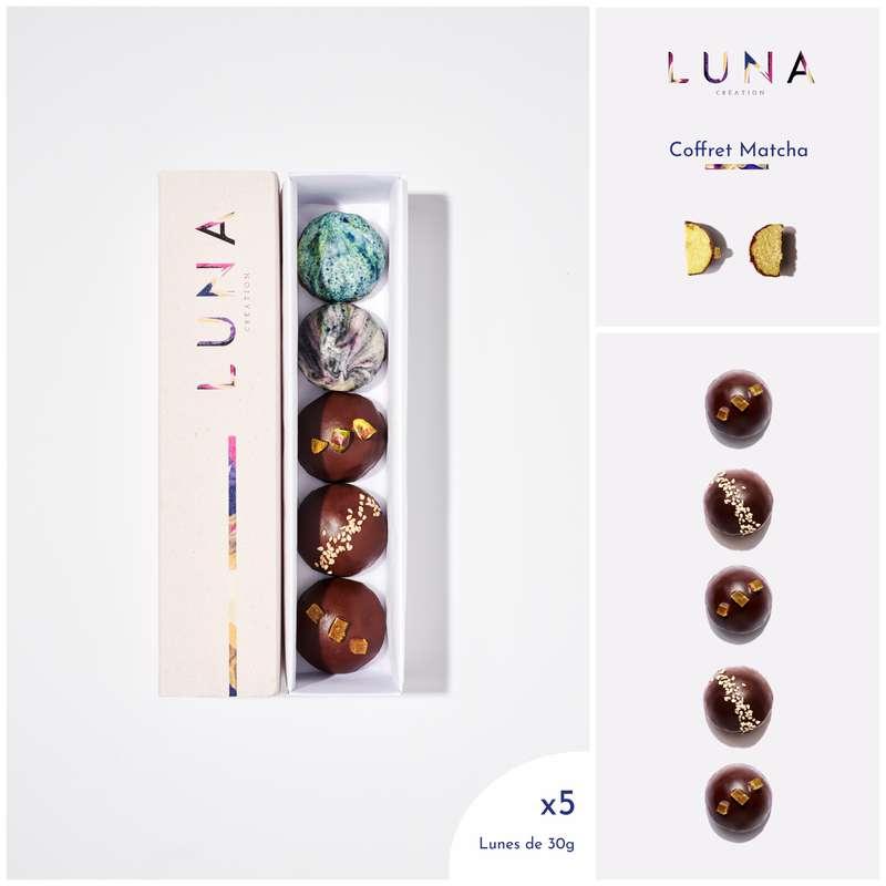 Coffret Lunes Matcha Citron Sans Gluten et Vegan, Luna Création (x 5, 150 g)