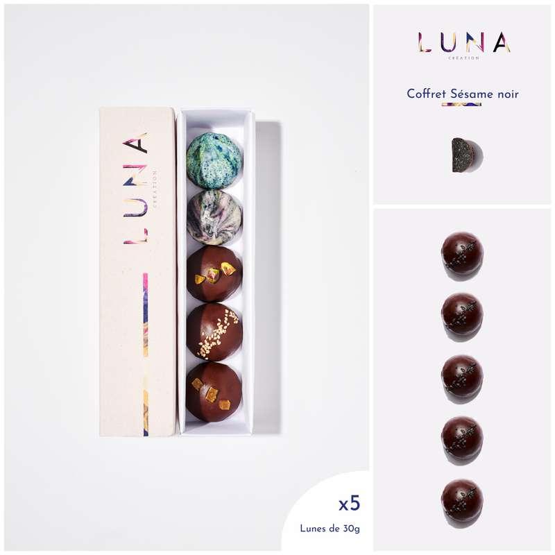 Coffret Lunes Sésame Noir Sans Gluten et Vegan, Luna Création (x 5, 150 g)