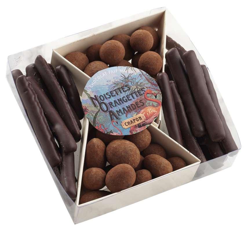 Coffret N.O.A. - Noisettes, Oranges, Amandes, Chapon Chocolatier (190 g)