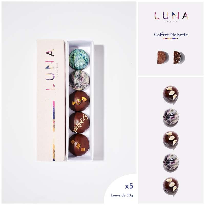 Coffret Lunes Noisette Sans Gluten et Vegan, Luna Création (x 5, 150 g)