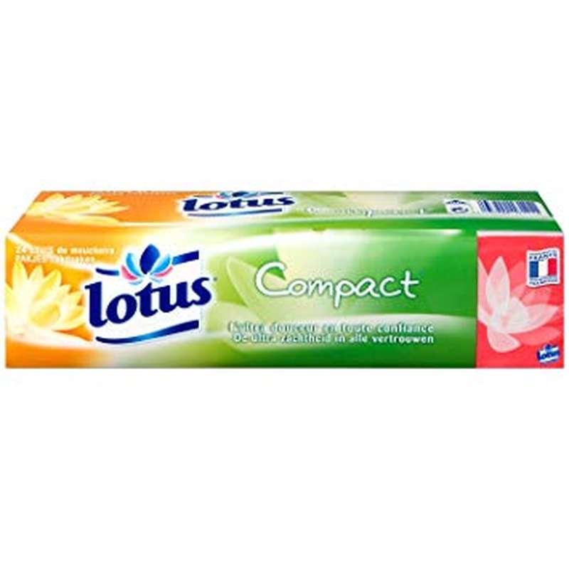 Etuis de mouchoirs blancs compact, Lotus (x 18)