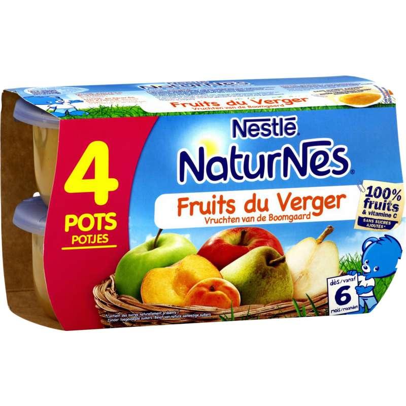 Fruits du verger - dès 6 mois, Naturnes Nestlé (4 x 130 g)