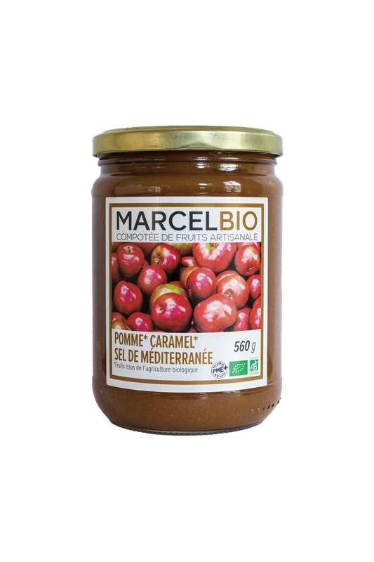 Compote Pomme, Caramel et sel de Méditerranée BIO, Marcel BIO (560 g)