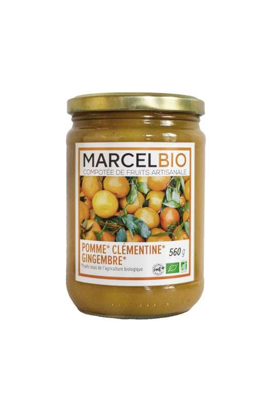 Compote Pomme, Clémentine et Gingembre BIO, Marcel BIO (560 g)