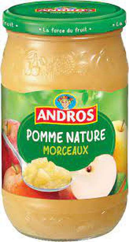 Compote pomme nature en morceaux, Andros (740 g)