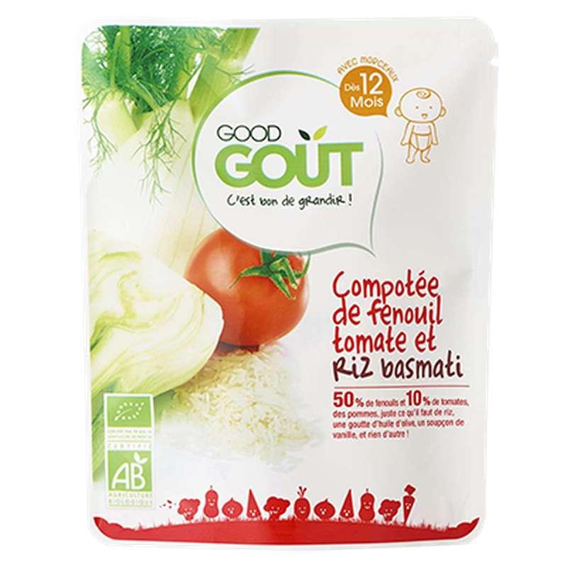 Compotée de fenouil au riz basmati et tomate BIO - dès 12 mois, Good Goût (220 g)