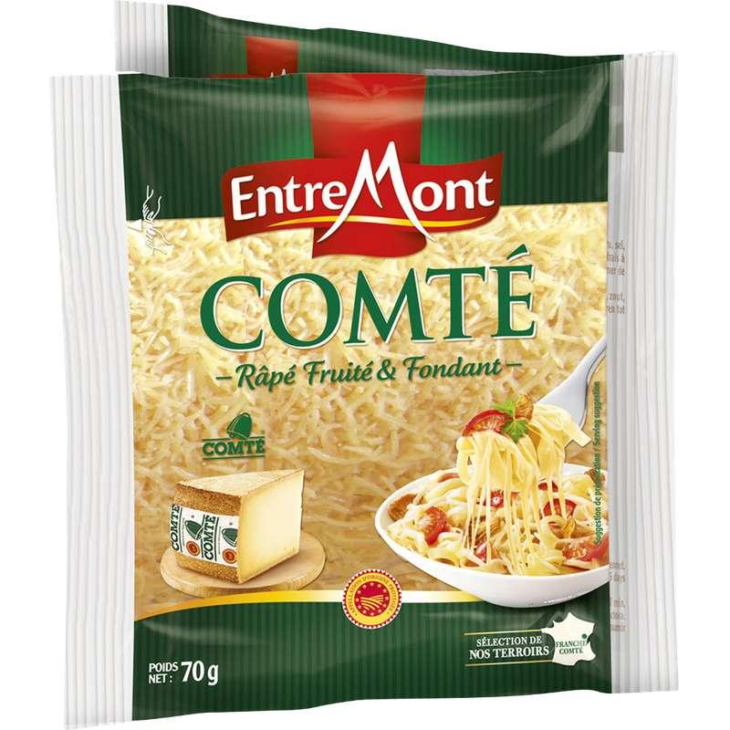 Comté rapé AOP au lait cru, Entremont (2 x 70 g)