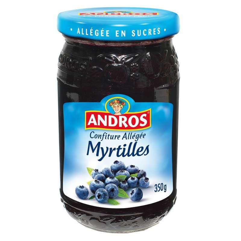 Confiture myrtilles allégée, Andros (350 g)