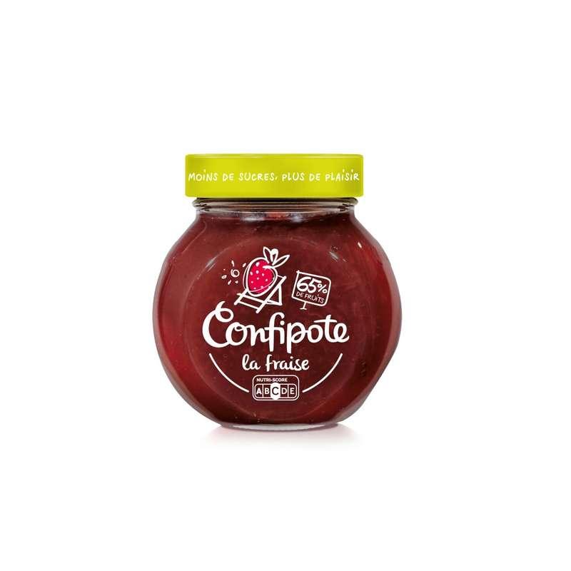 Confiture fraise allégée en sucres Confipote, Materne (350 g)