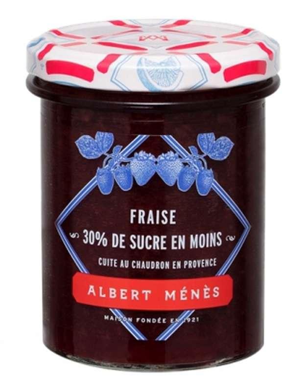 Confiture allégée de Fraise, Albert Ménès (265 g)