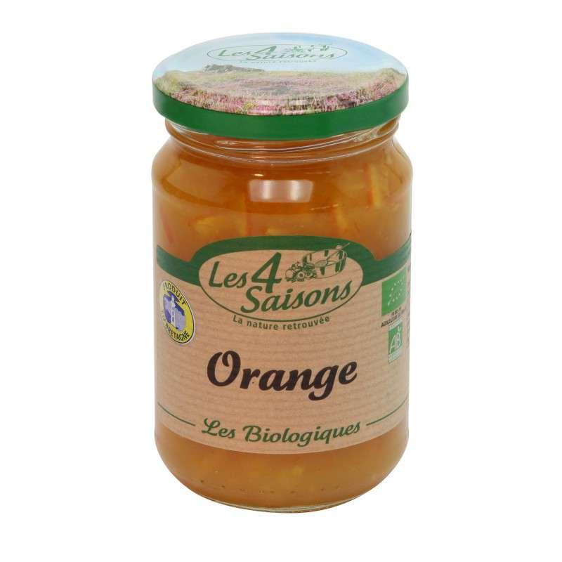 Confiture orange BIO, Les 4 saisons (360 g)
