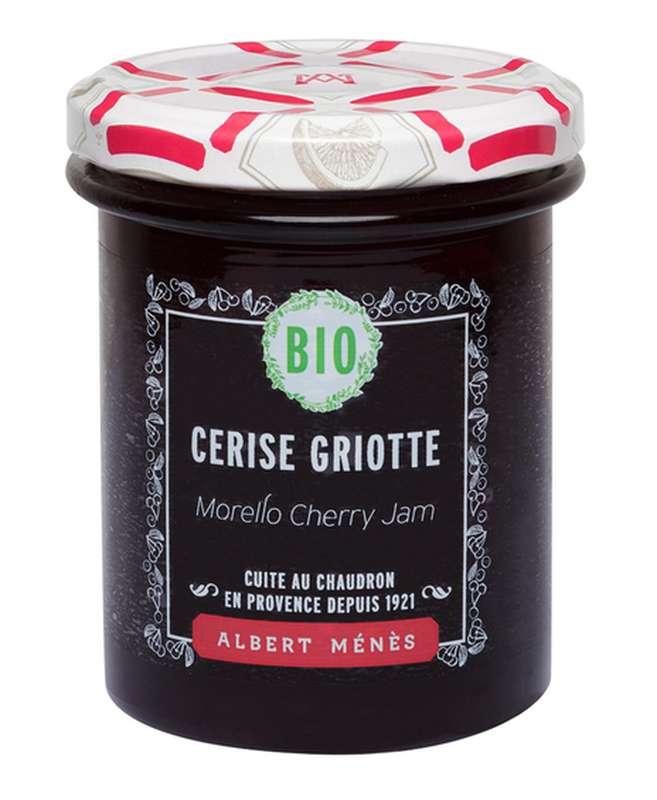Confiture Extra de Cerise Griotte BIO, Albert Ménès (230 g)