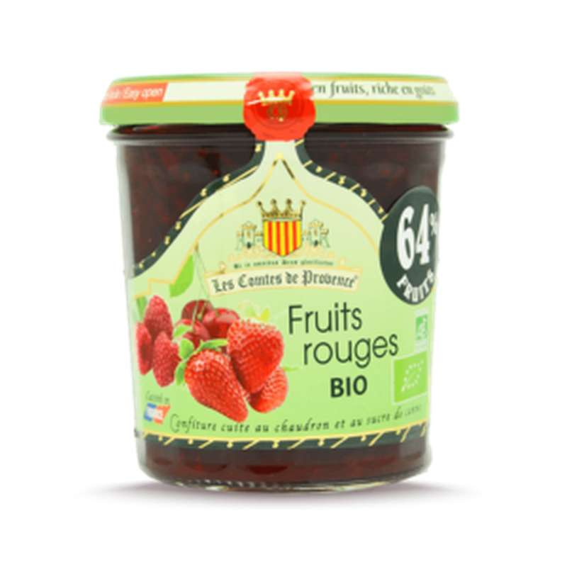 Confiture de fruits rouges BIO, Les Comtes de Provence (350 g)