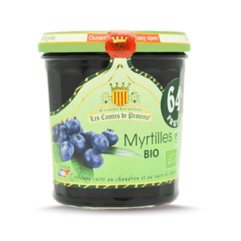 Confiture de myrtilles sauvages BIO, Les Comtes de Provence (350 g)