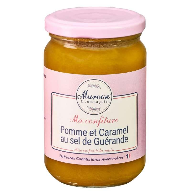 Confiture de pommes et caramel au sel de Guérande, Muroise (350 g)