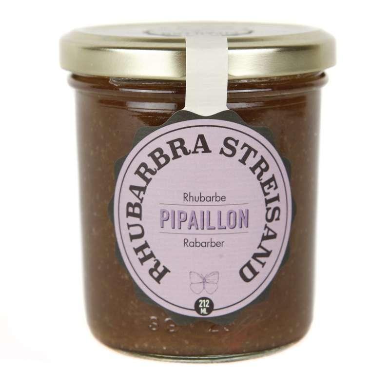 Confiture Rhubarbra Streisand - Rhubarbe BIO, Pipaillon (212 ml)