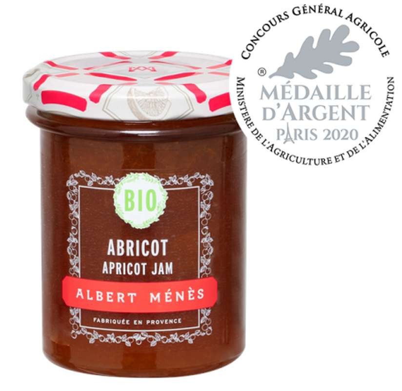 Confiture Extra d'Abricot BIO, Albert Ménès (230 g)