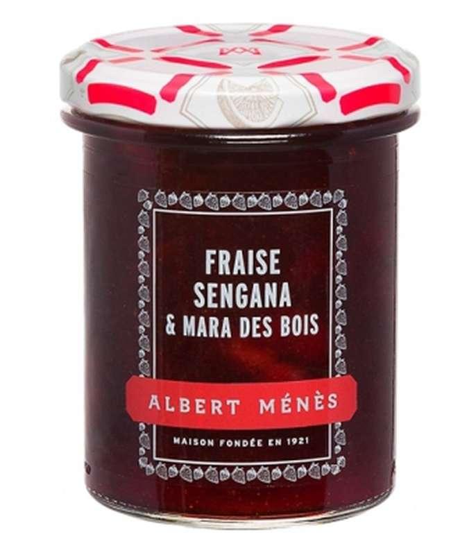 Confiture Extra de Fraise Sengana et Mara des Bois, Albert Ménès (280 g)