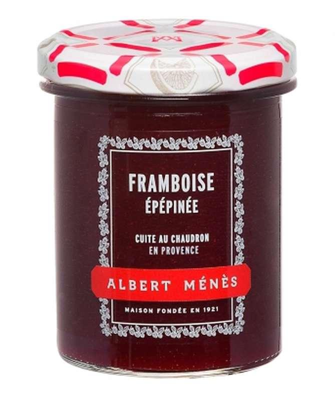 Confiture Extra de Framboise épépinée, Albert Ménès (280 g)
