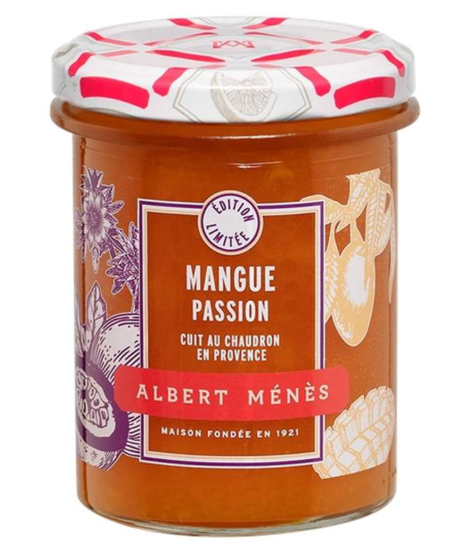 Confiture Extra de Mangue et de Fruit de la Passion, Albert Ménès (280 g)