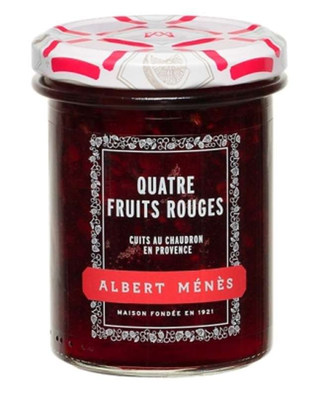 Confiture Extra de Quatre Fruits Rouges, Albert Ménès (280 g)